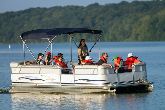 Rent a pontoon boat at CB's Outfitters