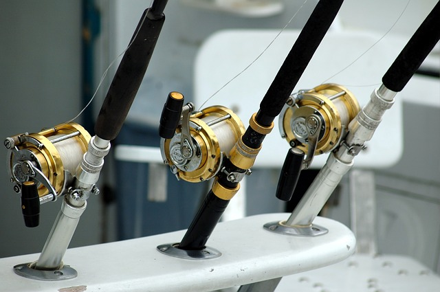 fishing rods on a Florida fishing boat
