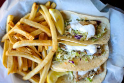 Delicious fish tacos from Siesta Key's top restaurant the Old Salty Dog