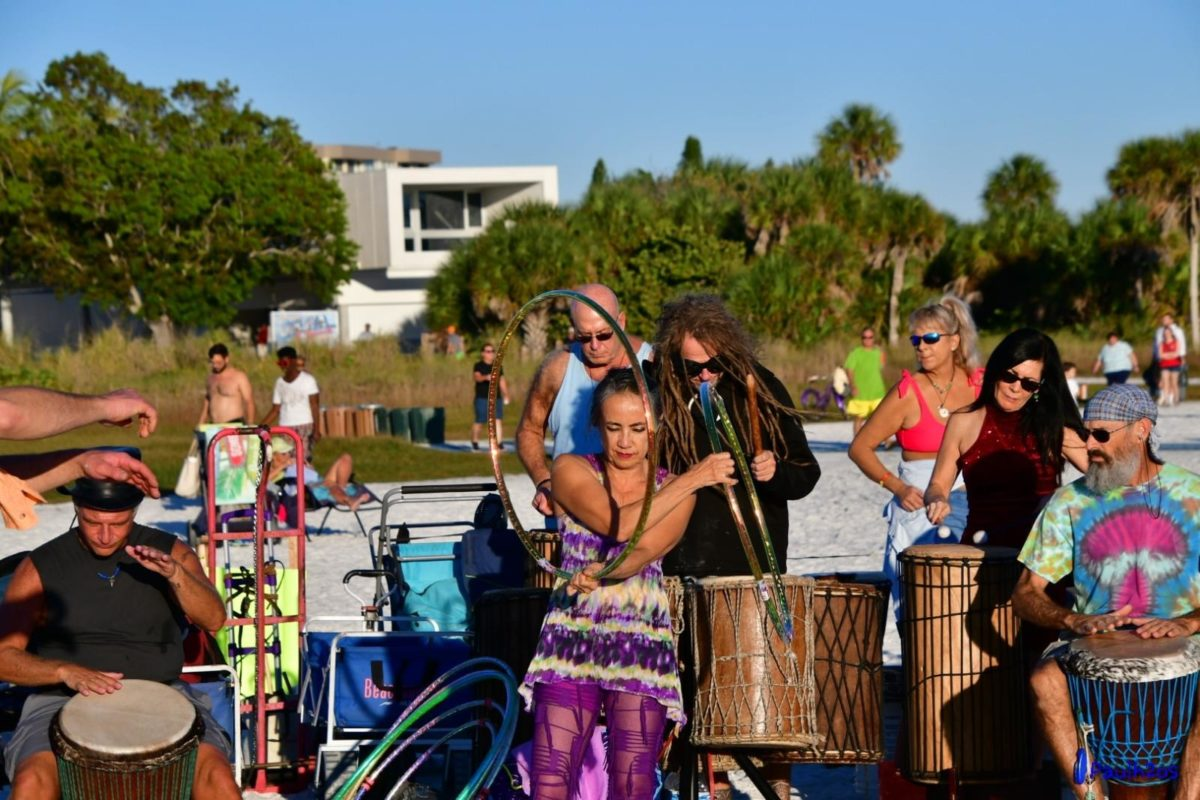 The drum circle in Siesta Key is a great way to gather and meet other people, locals and fellow tourists alike, while celebrating Siesta Key culture.