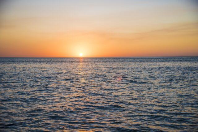 the sunset in siesta key
